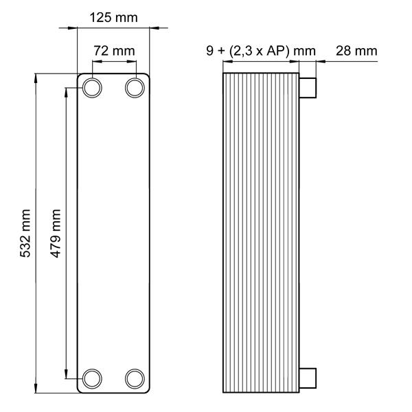 Plattenwärmetauscher - Systemtrennung Heizung Solar